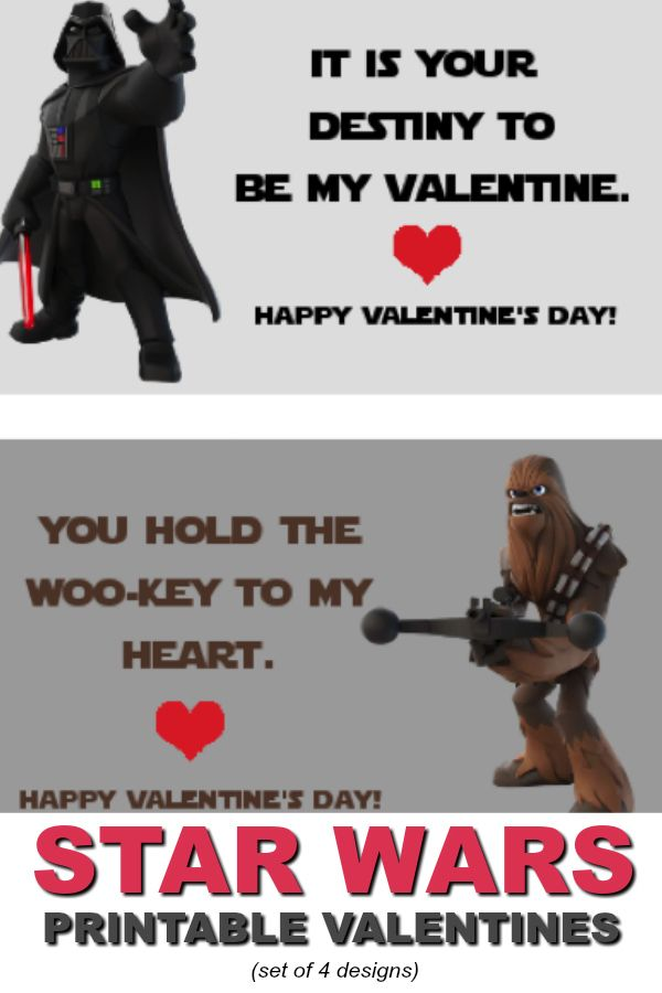 These free printable Star Wars Valentines are perfect for girls or