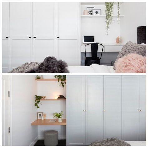 Which study nook did you like best: @ronnieandgeorgia's or @hannahandclint's? #theblockshop #9theblock #bedroom #study #interiors