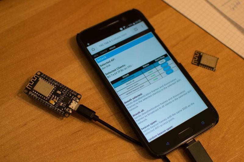 esp8266 deauther with a smartphone | ESP32 ESP8266 | Arduino