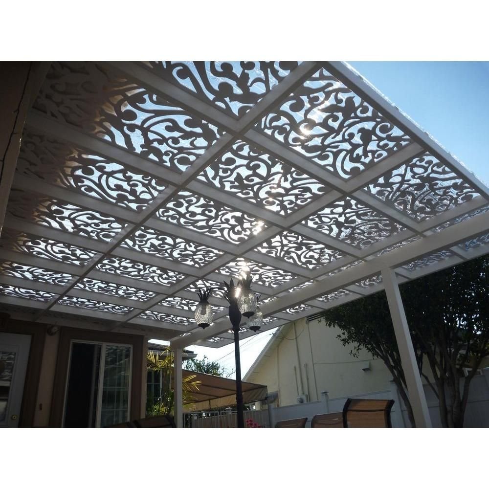 Acurio Latticeworks Ginger Dove 32 In X 4 Ft White Vinyl