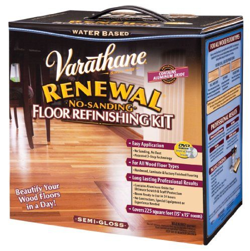 Rust-Oleum Varathane 242008 Renewal No-Sanding Floor Refinishing Kit,  Semi-Gloss - Rust-Oleum Varathane 242008 Renewal No-Sanding Floor Refinishing