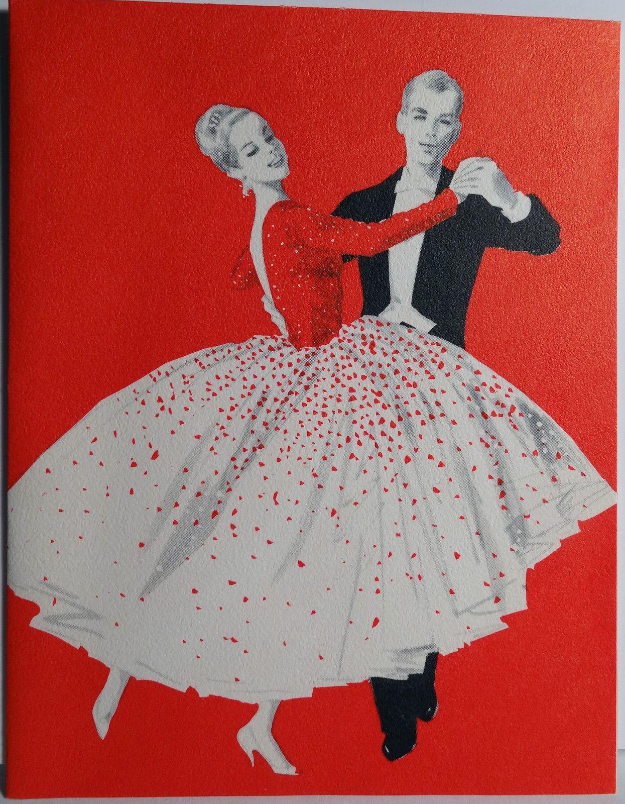 So cute - a vintage Christmas card with ballroom dancers | Ballroom ...