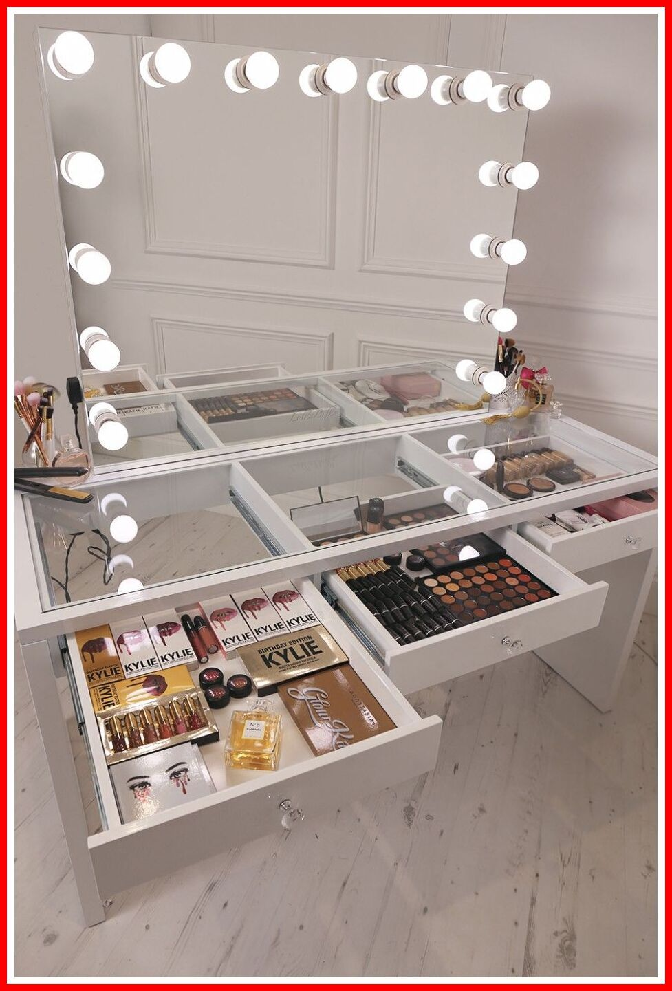 36 Reference Of Vanity Dressing Table With Mirror And Lights In 2020 Makeup Organization Vanity Diy Vanity Mirror Makeup Table Vanity