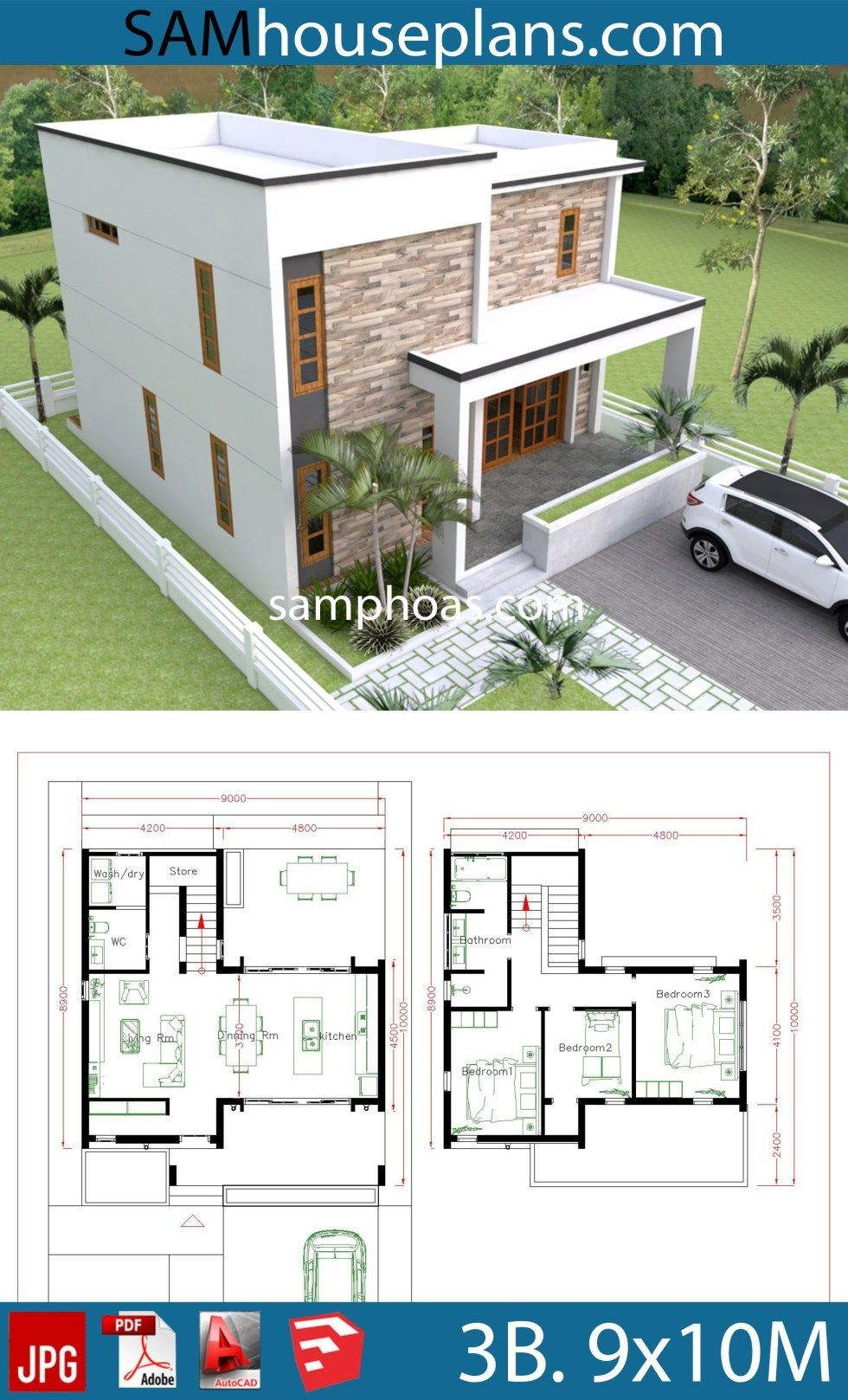 Duplex House Plans in 2020 Bedroom house plans, Small