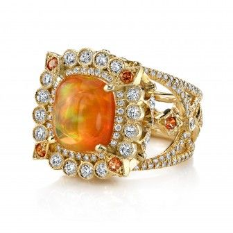 Erica Courtney - Fire opal ring