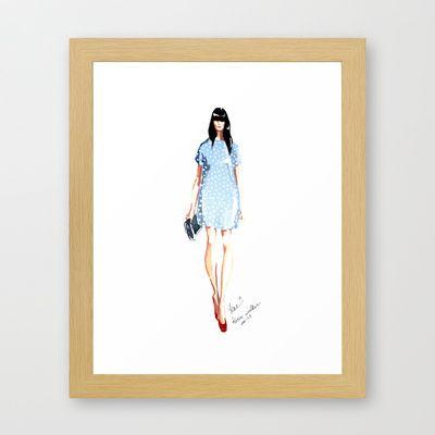 Karen Walker SS 13 Fashion Illustration Framed Art Print