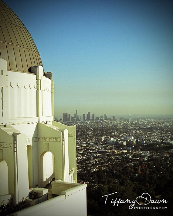Travel Photography Los Angeles California Griffith Observatory Fine Art Photograph Print Home Decor Griffith Observatory Los Angeles California California
