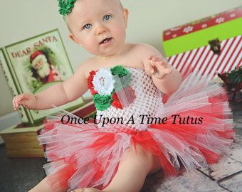 eda26e17a8ab Christmas Candy Cane Tutu Dress - Baby Girl Newborn 3 6 9 12 18 24 Months  2T 3T 4T 5 6 7 8 10 - Winter Classic Outfit Holiday Photo Prop