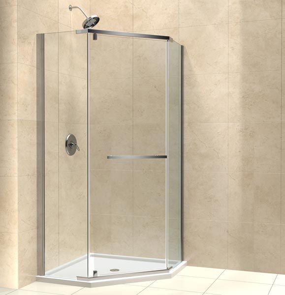 The Prism Shower Enclosure Incorporates A Unique Corner Installation Design To Save Space While C Neo Angle Shower Neo Angle Shower Enclosures Shower Enclosure