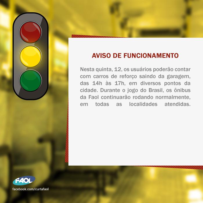 Arte Criada Para Divulgar Avisos Como Horarios De Funcionamento Mudancas De Itinerario Etc Jogos Do Brasil Horario De Funcionamento Saindo