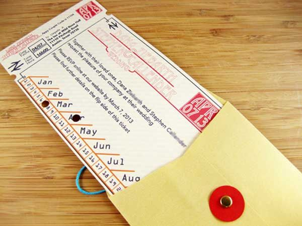 Austin inspiration Tickets to a DIY wedding DIY wedding Paper