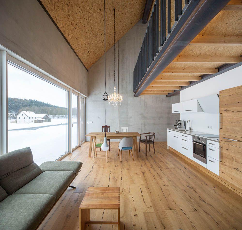 Kunst Im Bau Wohnhaus Fur Den Kuntler Leo Schotz I Fabi Architekten Zeitgenossische Hauser Zeitgenossisches Apartment Moderne Stiegen