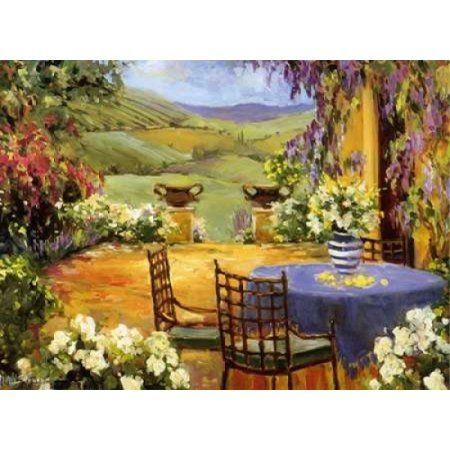 Countryside Terrace Canvas Art - Allayn Stevens (18 x 24)