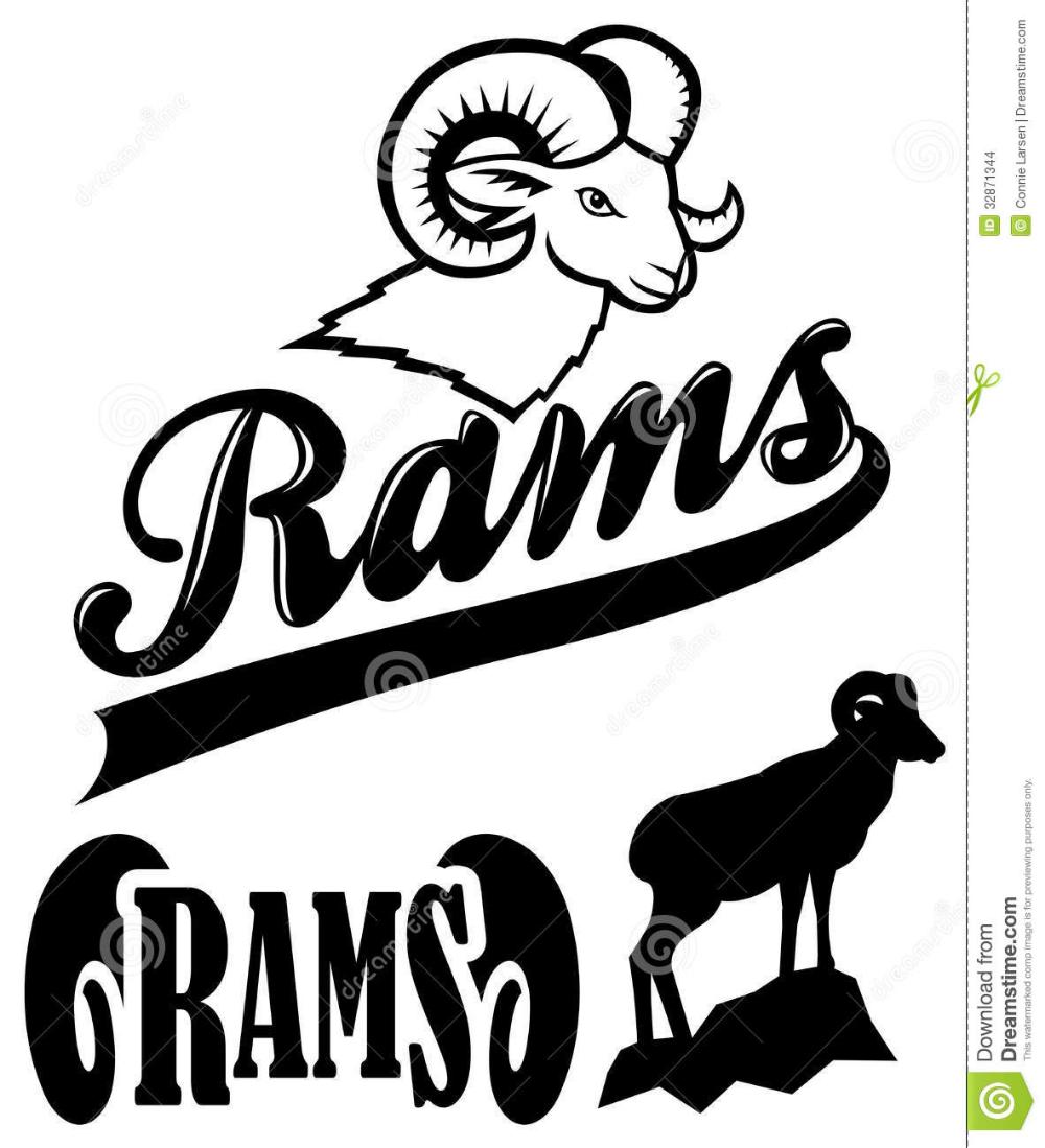 Rams Team Mascot stock illustration. Illustration of rams