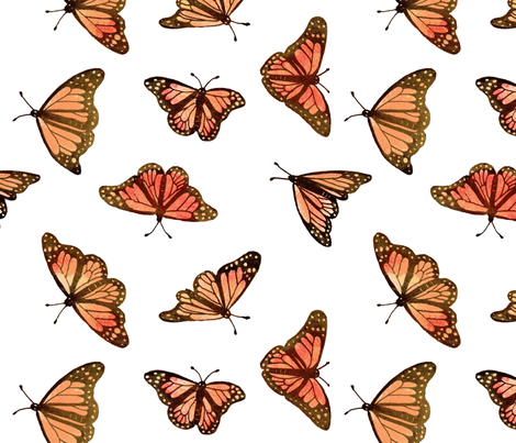 Colorful Fabrics Digitally Printed By Spoonflower Monarch