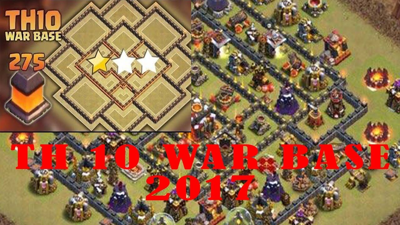 Th10 War Base Baru Base Th 10 Terkuat 2017 Coc The Best Th10