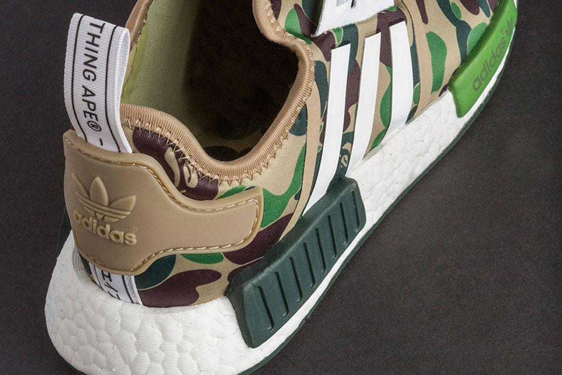 bape x adidas nmd r1 raccolta scarpa sgorbio street style