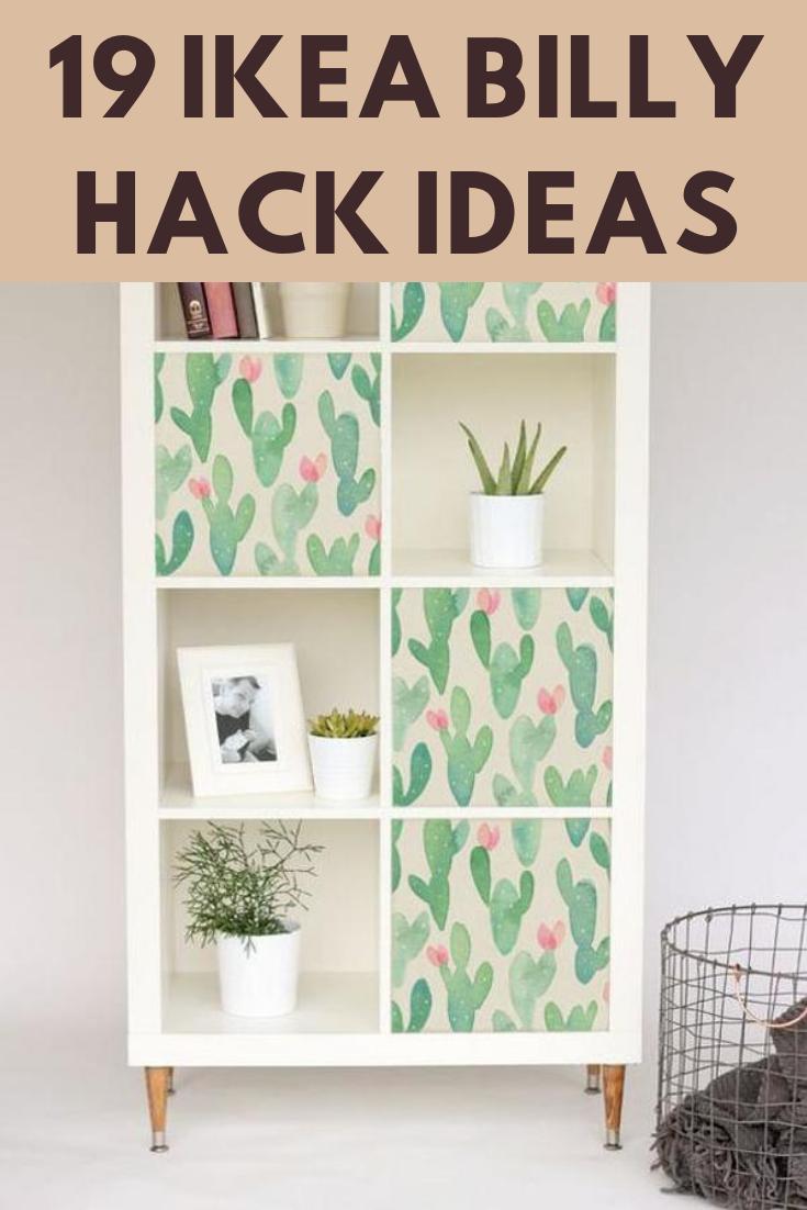 19 Ikea Billy Bookcase Hacks That Are Bold And Beautiful James And Catrin Kallax Ikea Ikea Ikea Kallax Hack