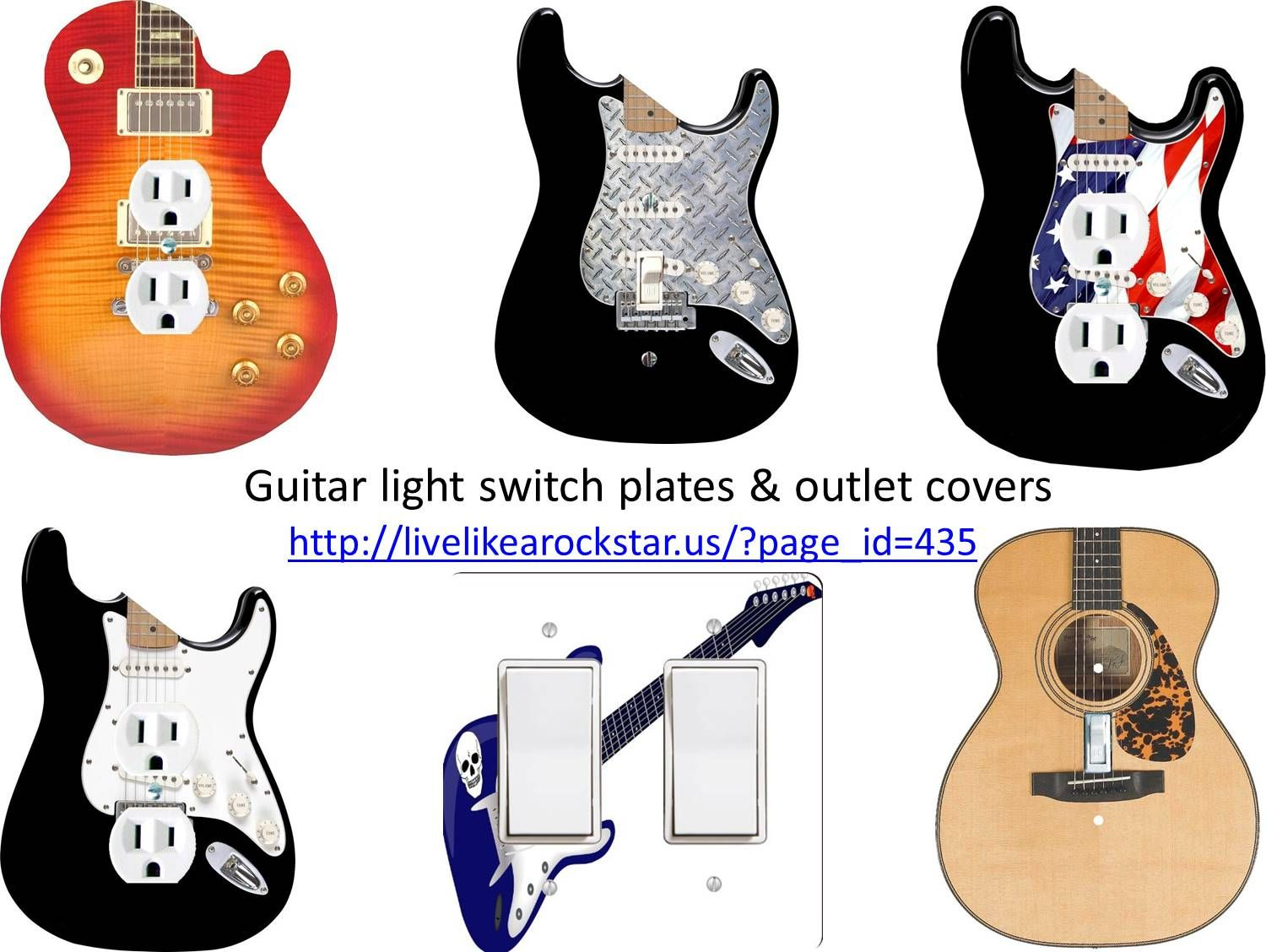 Great Resource For All Guitar Light Switch Plates And Outlet Covers