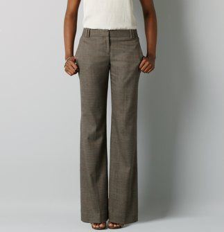 Women's Clothing Ann Taylor Loft Julie Gray High Rise Wide Leg Dress Career Pants 10