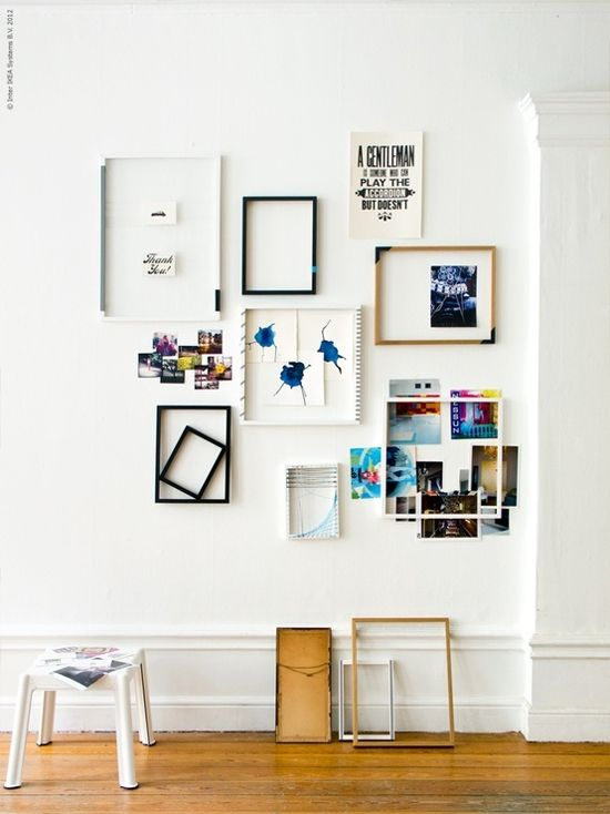 beautiful gallery walls. especially love the idea of hanging an ...