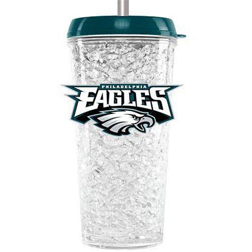 Philadelphia Eagles 16oz Crystal Freezer Travel Tumbler w/Straw