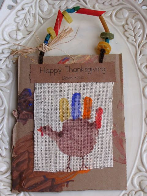 Share and Remember: Hand Print Turkey Keepsakes