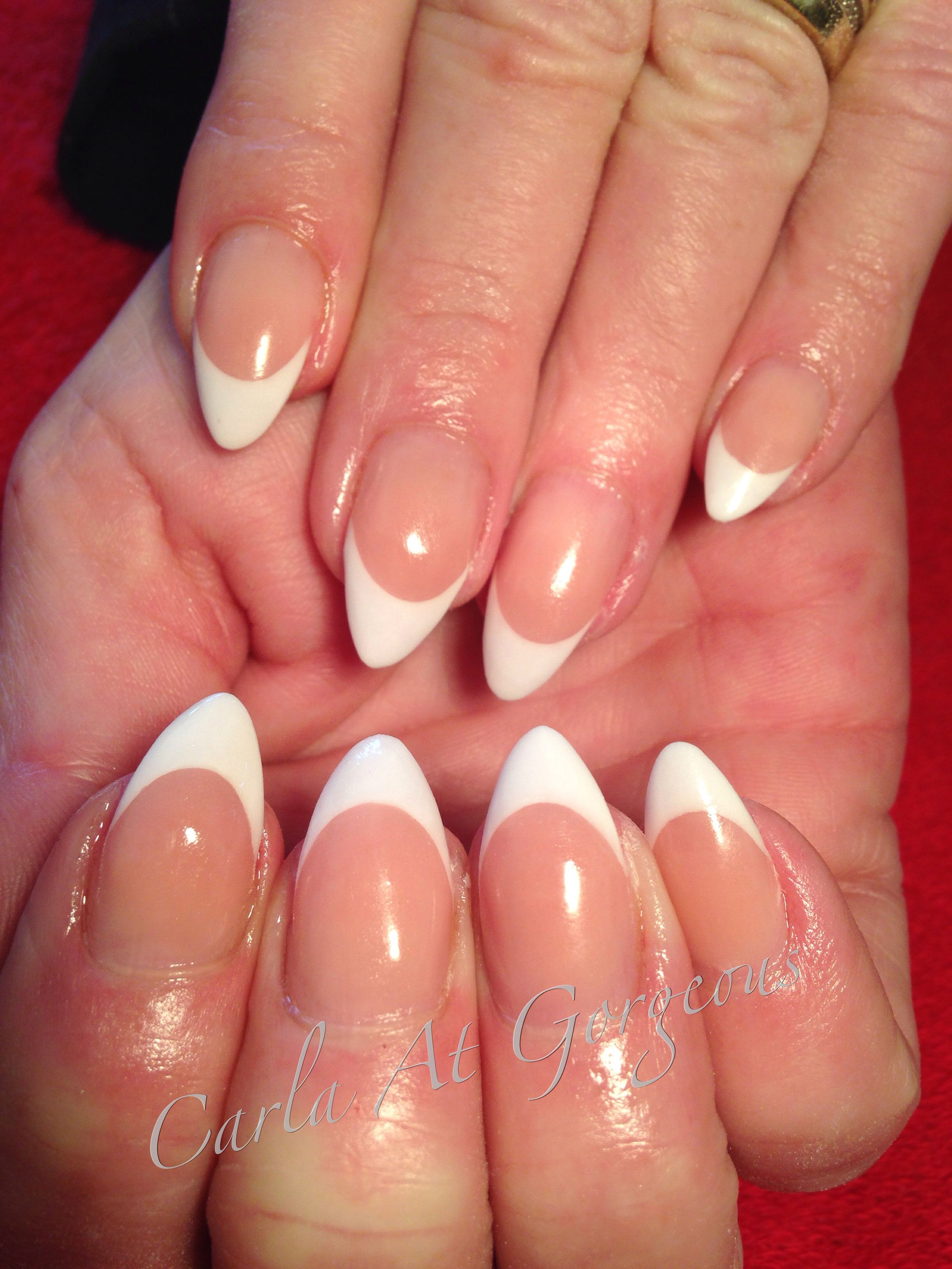 Classic french white almonds | Nails | Pinterest | Almonds and White ...