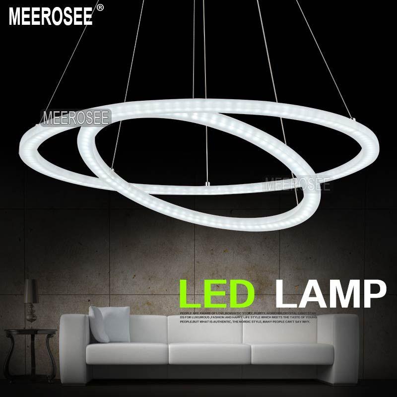 blanc acylic led double anneau lumineux led cercle lustre lustres luminaire md5000 dans lustres. Black Bedroom Furniture Sets. Home Design Ideas