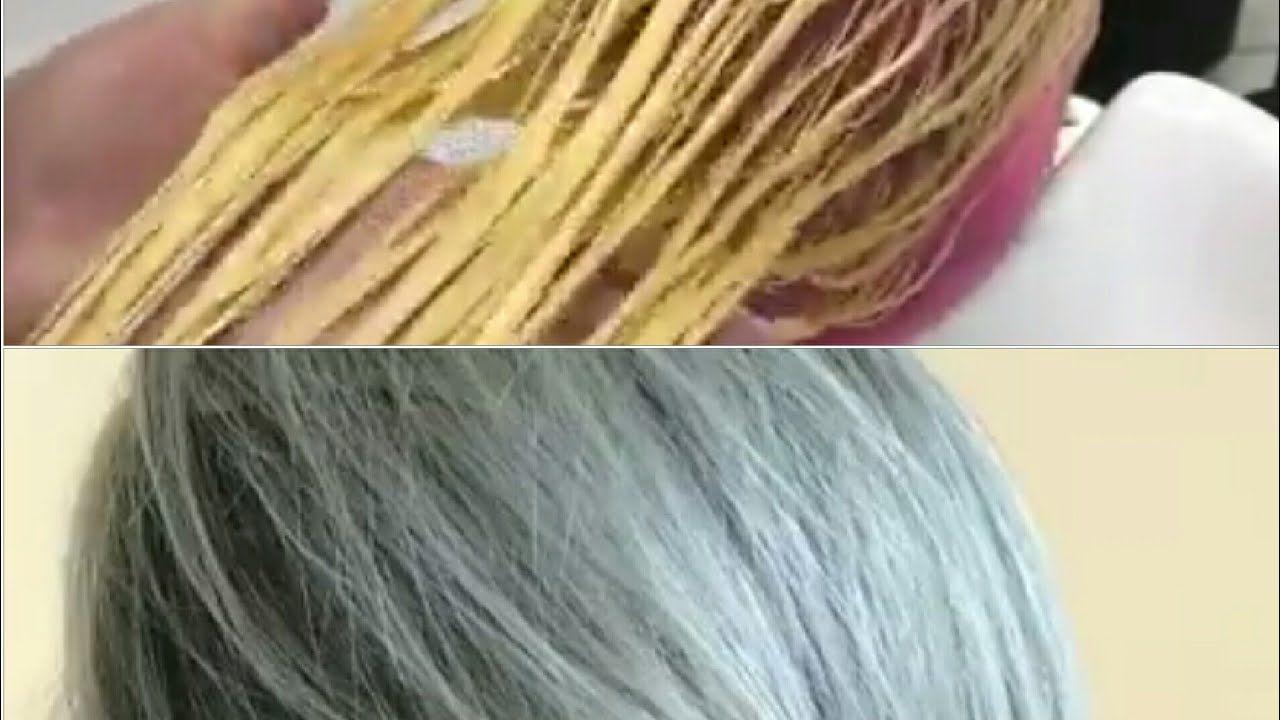 سحب لون الشعر مع الرنساج للتخلص من اللون الاصفر Hair Hair Mask Hair Styles