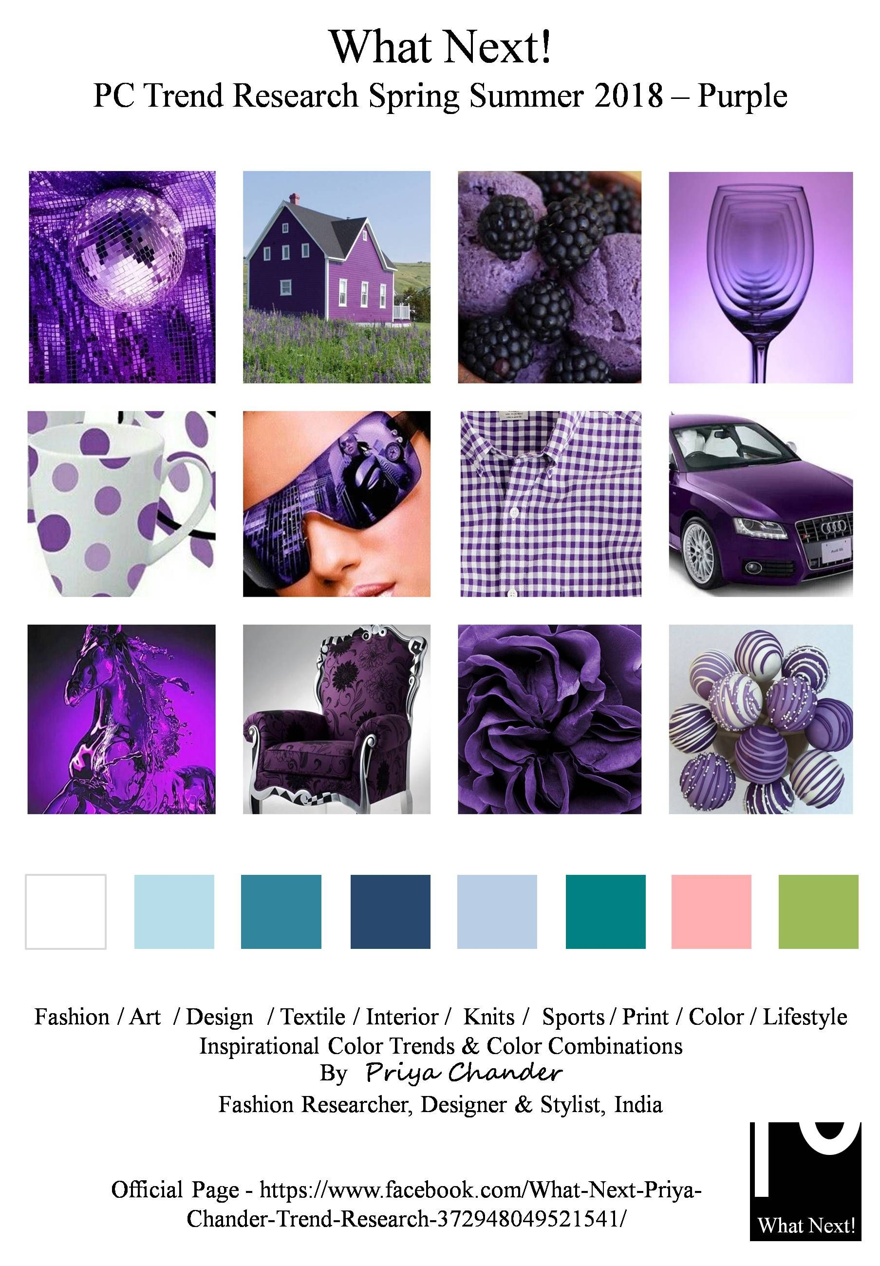 #Purple #SS18 #fashion #colortrends #fashiontrends # ...
