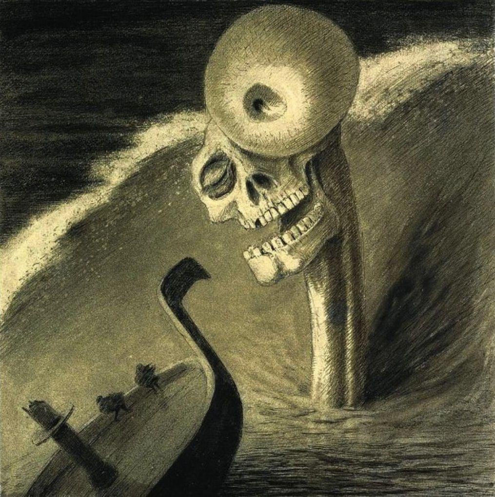 Alfred Kubin, Das Grausen (The Horror), c. 1902. | Alfred kubin ...