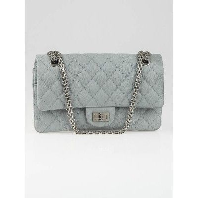 5b5c5cc84265 Chanel Grey 2.55 Reissue Quilted Matte Caviar Leather Classic Reissue 225 Flap  Bag