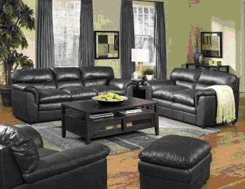 black leather living room ideaseuskalnet