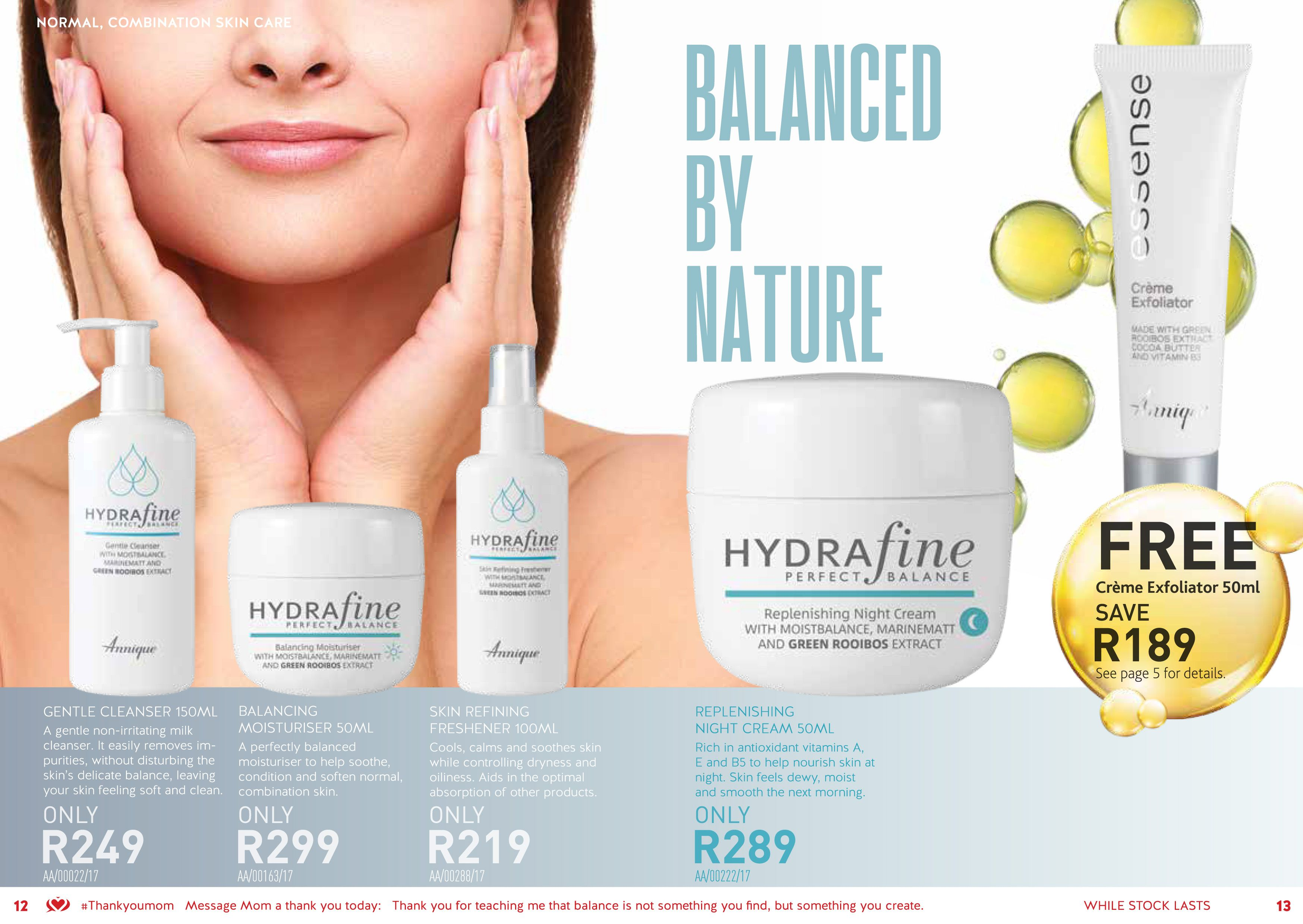 Annique Hydrafine for Normal and Combination Skin