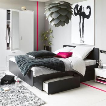cool lits 2 places lits chambres meubles fly lit double pinterest lits place et. Black Bedroom Furniture Sets. Home Design Ideas