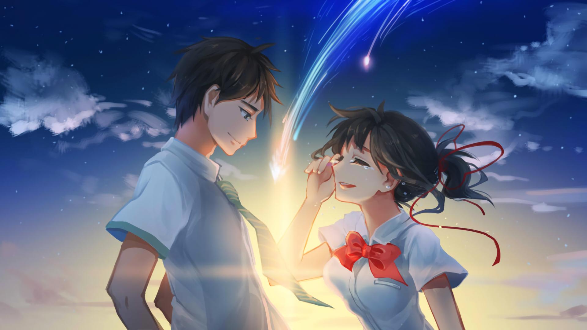 Anime Your Name Mitsuha Miyamizu Taki Tachibana Kimi No Na