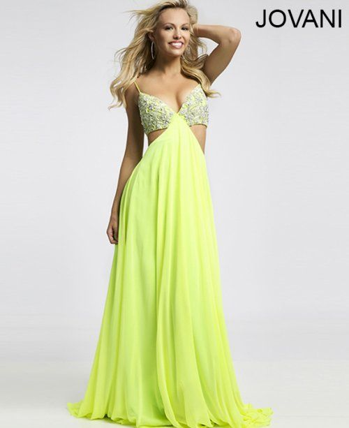 Jovani Prom Dresses 2015 | ... lime green prom dress with cut outs ...