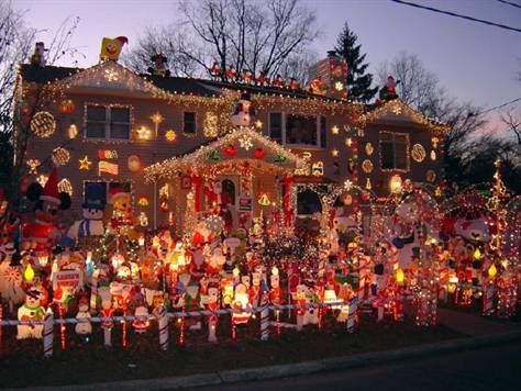 extreme christmas decorating too much.....even for me. LOL