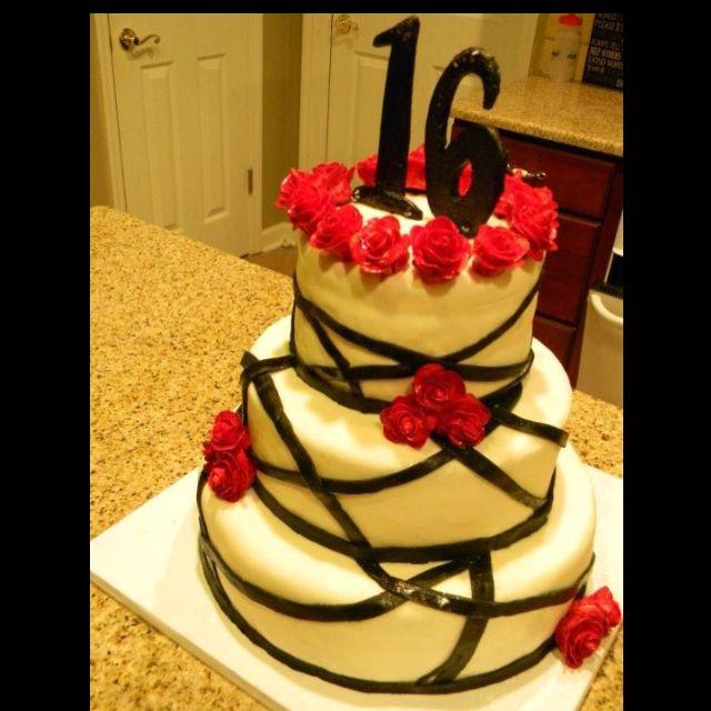 16th birthday cake(: made by 16 year olds!   16 birthday cake, Cake, Birthday cake