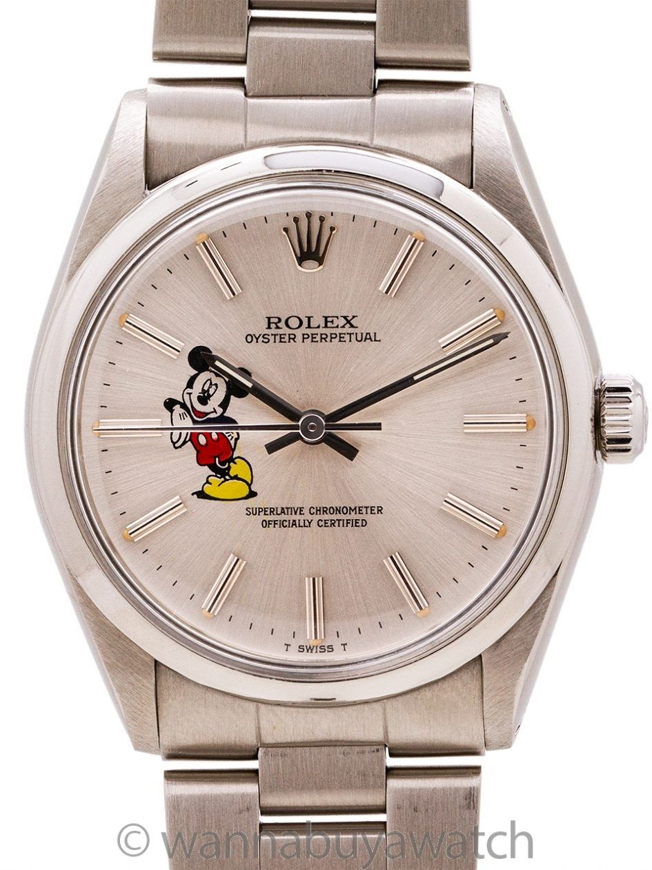 Rolex Airking ref 5500 custom Mickey Mouse circa 1987 in