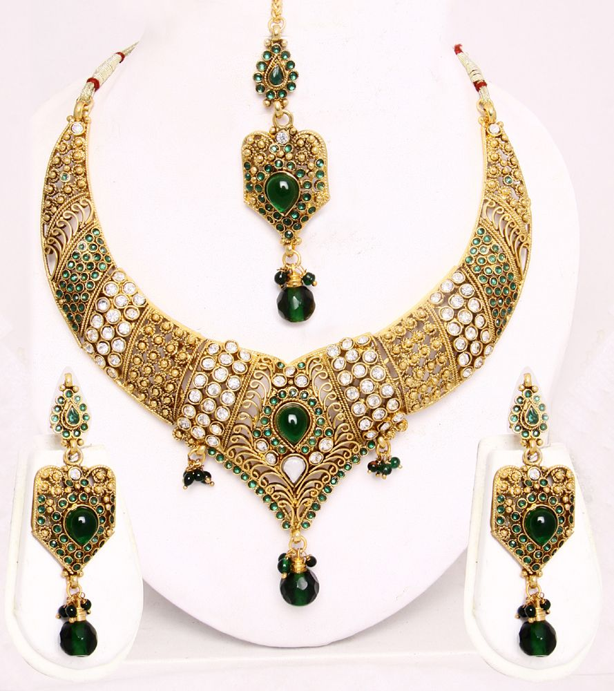 Dubai Gold Jewellery Set | Jewelry: Sets and Suites | Pinterest ...