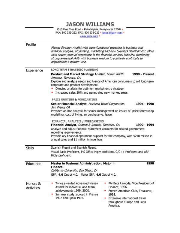 Free Printable CV Template -   topresumeinfo/free-printable-cv
