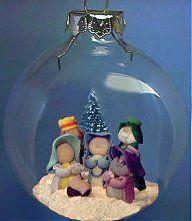 xmas ball nativity