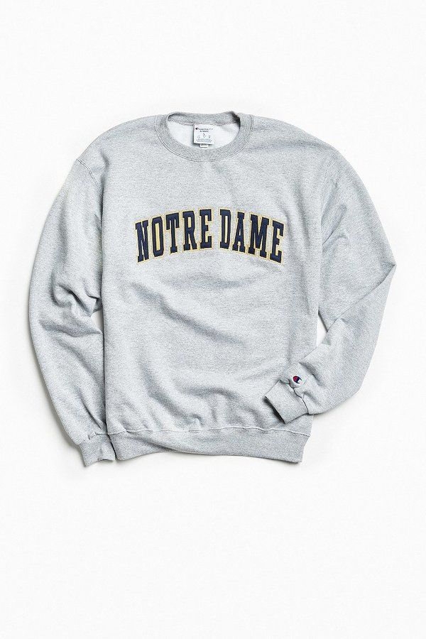 Champion University Of Notre Dame Eco Fleece Crew Neck Sweatshirt ...