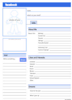 image regarding Printable Facebook Template called Fb Profile fb Fb profile template