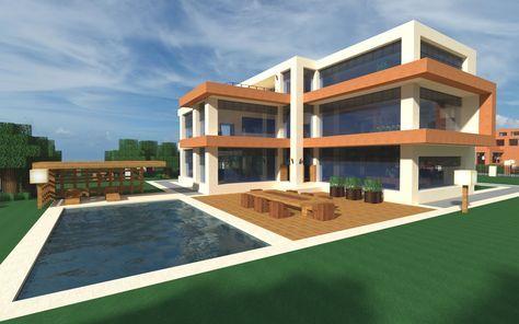 Modern House 3 Menix House Series Minecraft Map Con Imagenes