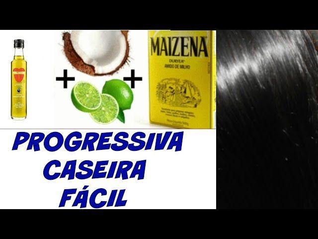 Progressiva Caseira Leite De Coco Limao Maizena E Oleo De Coco
