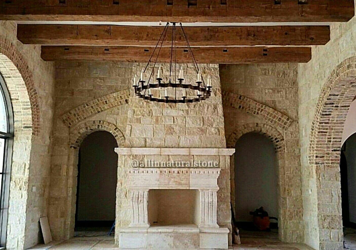 Cantera fireplace  by www.allinnaturalstone.com