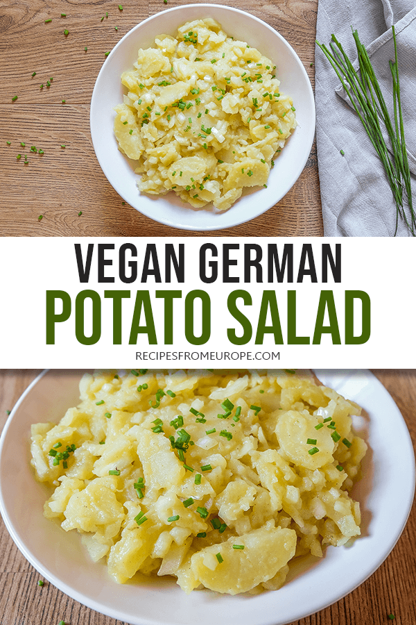Vegan German Potato Salad Swabian Style Recipes From Europe Recipe German Potato Salad German Potato Salad Recipe Interesting Food Recipes